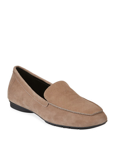 Donald J Pliner Donitaks Perforated Suede Slip-On Loafers