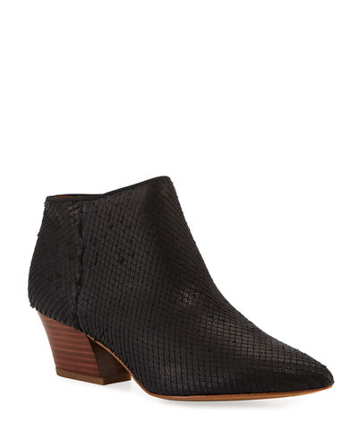 Lowe 2 Snake-Print Leather Booties
