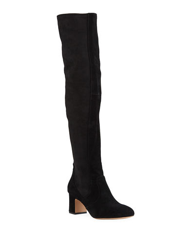 Charlotte Suede Over-The-Knee Boots