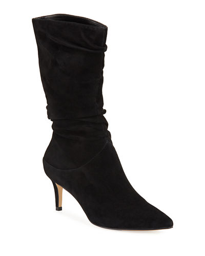 Nila Slouchy Suede Mid Calf Boots