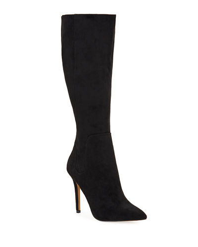 Package High-Heel Suede Boots