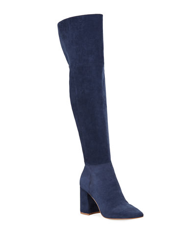 Tall Stretch Microsuede Boots