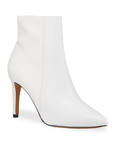 Temple Point-Toe Leather Booties