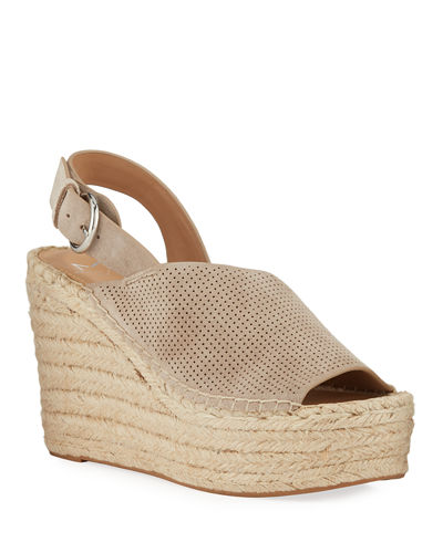Andela Perforated Suede Espadrille Sandals