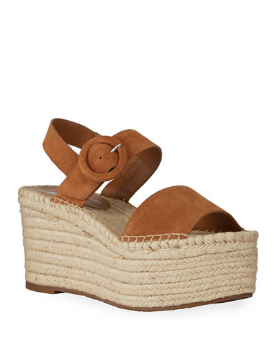Rex Suede Wedge Sandals