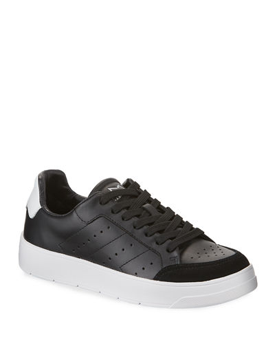 Hayley Perforated Leather Low-Top Sneakers