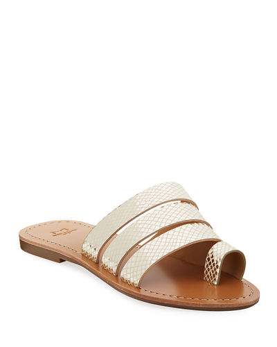 Rilee Toe-Ring Suede Slide Sandals