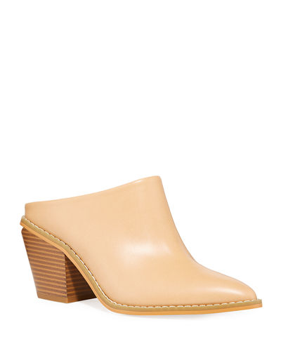 Demi Pointed-Toe Western Mules