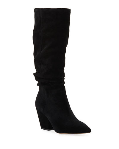 Clayton Slouchy Suede Knee Boots