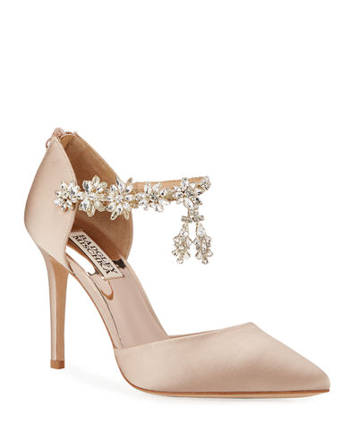 Venom Crystal-Embellished Satin Pumps