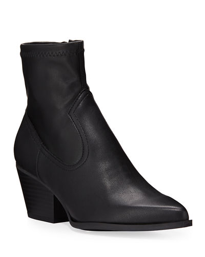 Shandi Stretch Leather Booties