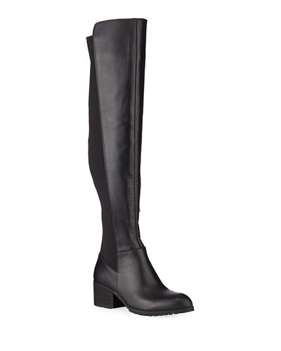 Relative Tall Stretch Leather Riding Boots