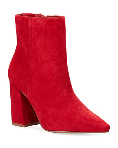 Virgil Microsuede Pointed-Toe Booties