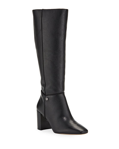 Ratana Pebbled Leather Knee Boots