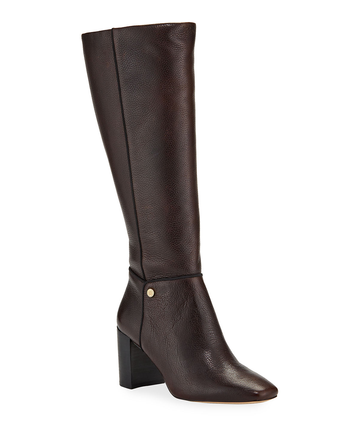 Karl Lagerfeld Boots RATANA PEBBLED LEATHER KNEE BOOTS