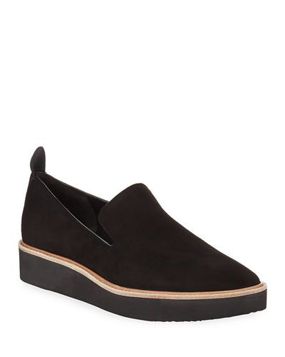 Sanders Soft Suede Slip-On Sneakers
