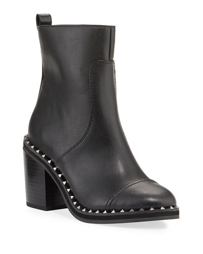 Frazz Cap-Toe Studded Booties