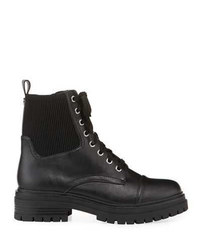 Giovanny Two-Tone Combat Booties