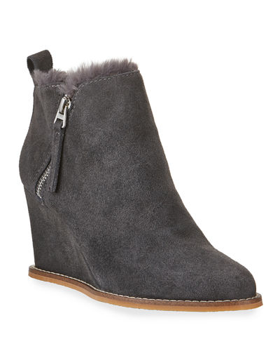 Garrik Suede Wedge Booties