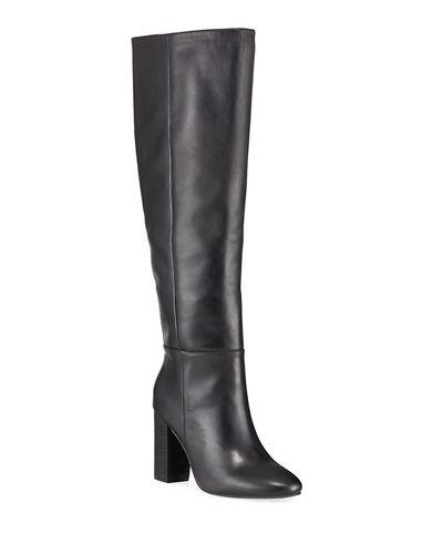 Intermixx Leather Over-The-Knee Boots
