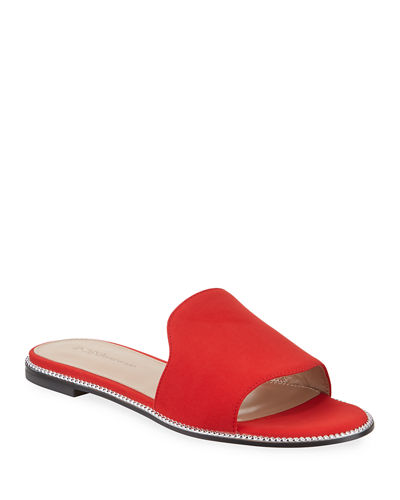 Zahara Smooth Leather Slide Sandals