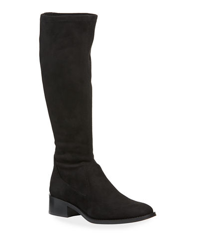 Zela Stretch Suede Knee Boots