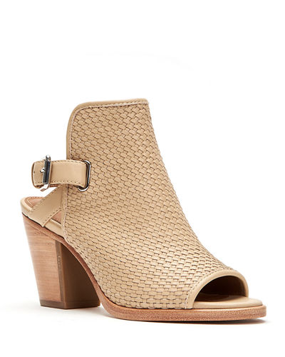 Dani Woven Leather Ankle Booties