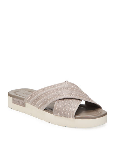 Camden Quilted Flat Sandals