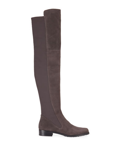 Langdon Tall Stretch Suede Boots