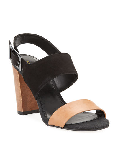 Bristol Two-Tone Suede Sandals