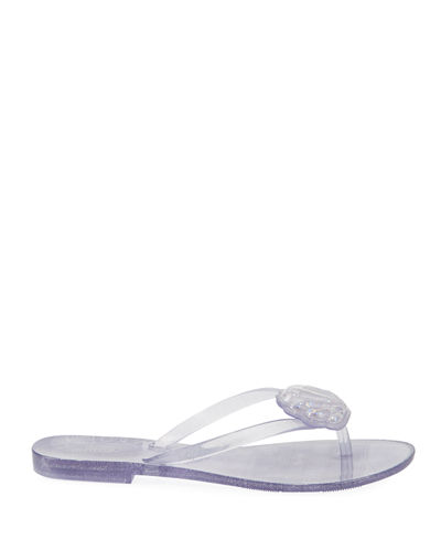 Harmonic XV Glitter Sea Shell Thong Sandals