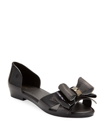 Melissa Seduction V Ad Open-Toe Ballet Flats