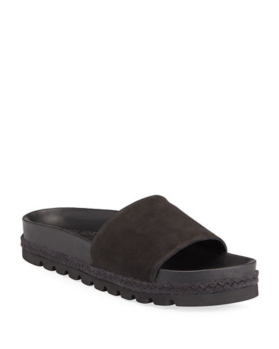 Libby Nubuck Slide Sandals