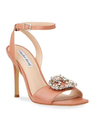 Vanity Jeweled Leather Sandals
