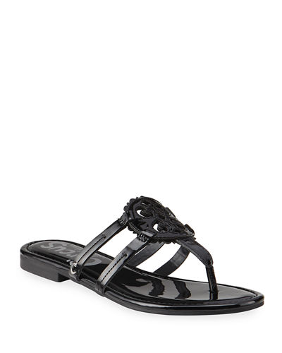 Clara Medallion Slide Thong Sandals