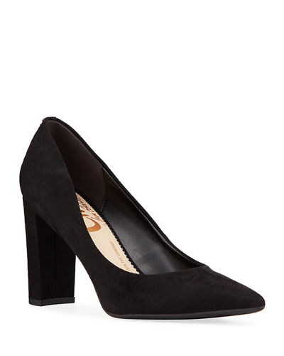 Minden Suede Pointed-Toe Pumps