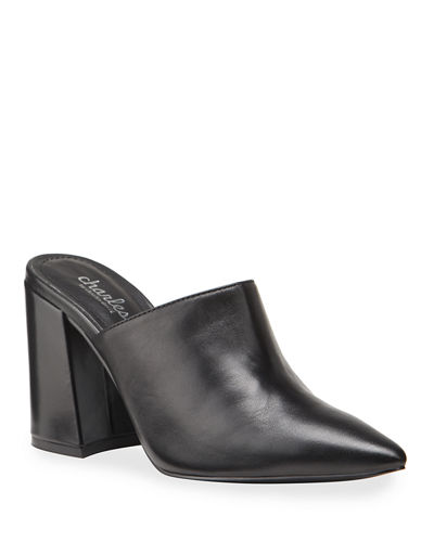 Valiant Leather Slide Mules