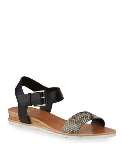 Vickey Leather Ankle-Strap Sandals