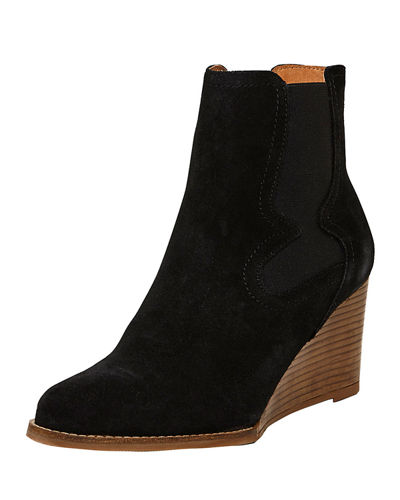 Palmer Suede Wedge Booties