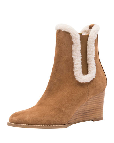 Andre Assous Siesta Shearling Wedge Booties