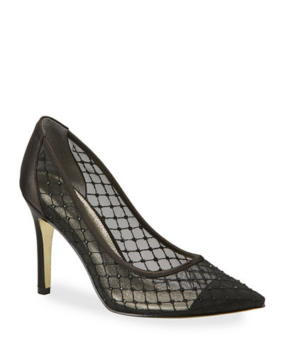 Adrianna Papell Avie Mesh High-Heeled Pumps