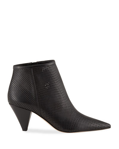 Bobbi Perforated Leather Booties