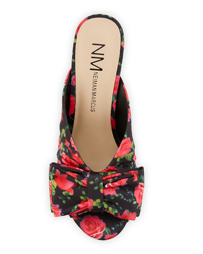 Bow-Top Dress Mule Sandals