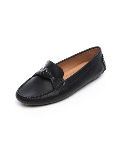 Bernardo Janie Leather Knotted Ballet Flats