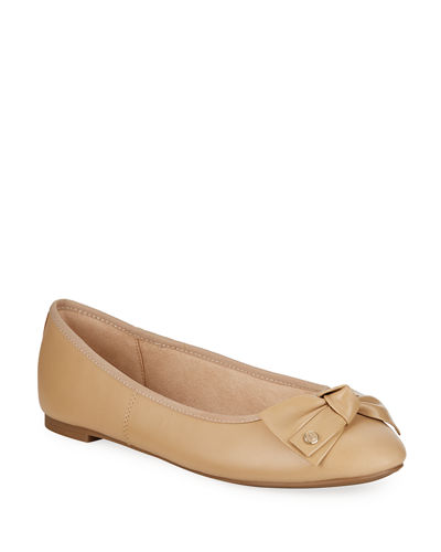 Connie Leather Bow Flats