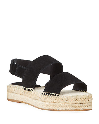 Aubrey Metallic Leather Espadrilles