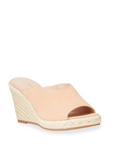Wonda Suede Slide Wedge Espadrilles