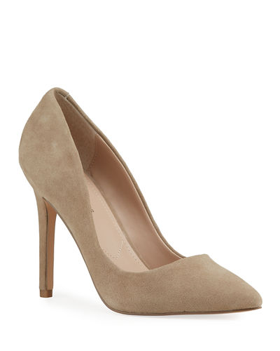 Prestige Soft Suede Leather Pumps