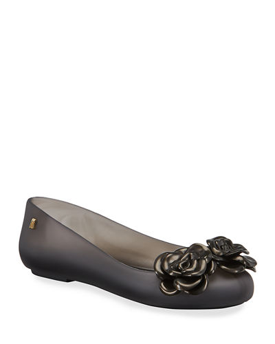 Space Love Flower-Trim Flats