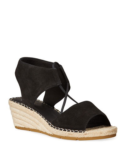 Agnes Nubuck Wedge Espadrille Sandals